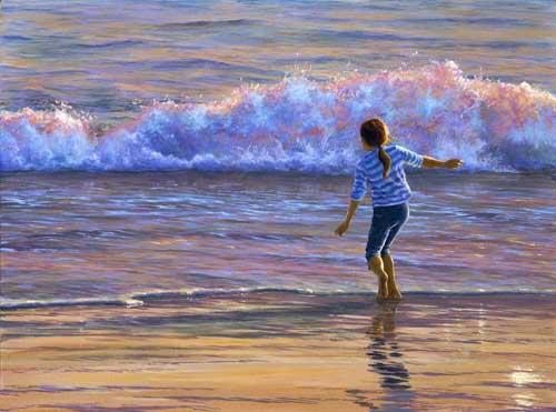 لوحات فنية تعبر جمال البحر
