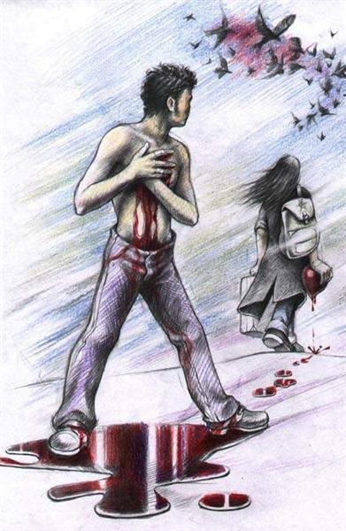 صورة كلام عن الفراق في الحب